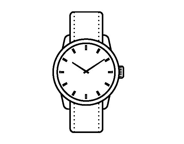 4ee8f9c8114 Desenho de Relógio de pulso para Colorir - Colorir.com