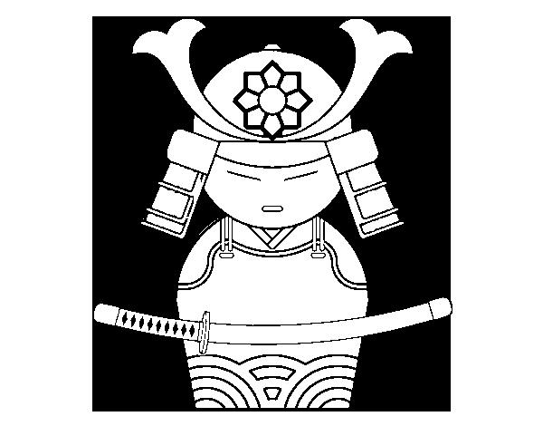 Desenho de Samurai chinês para Colorir - Colorir.com