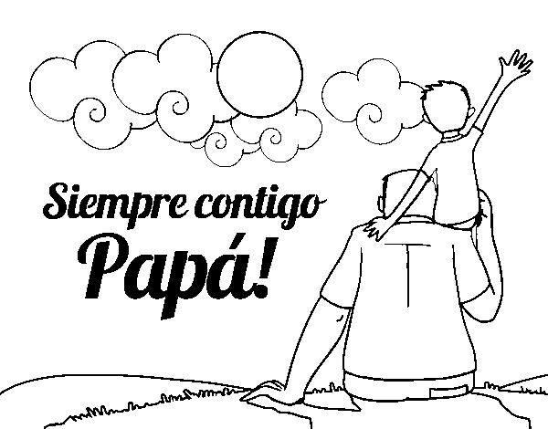 Desenho De Sempre Com Você Pai Para Colorir