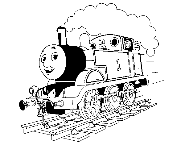 Desenho de Thomas a locomotiva 1 para Colorir - Colorir.com