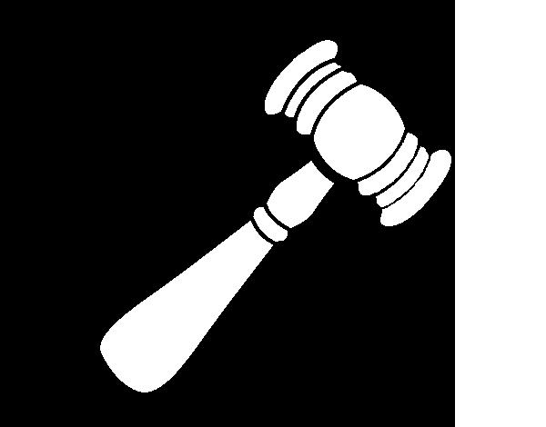 desenho de tribunal martelo para colorir colorir com