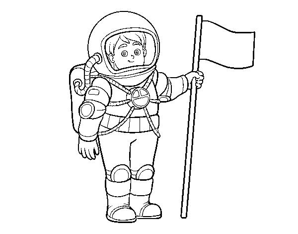 Desenho De Um Astronauta Para Colorir
