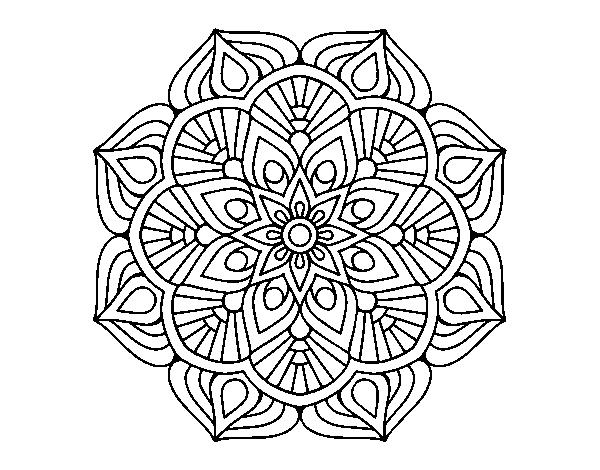 Desenho De Uma Mandala De Flor Oriental Para Colorir Colorir Com